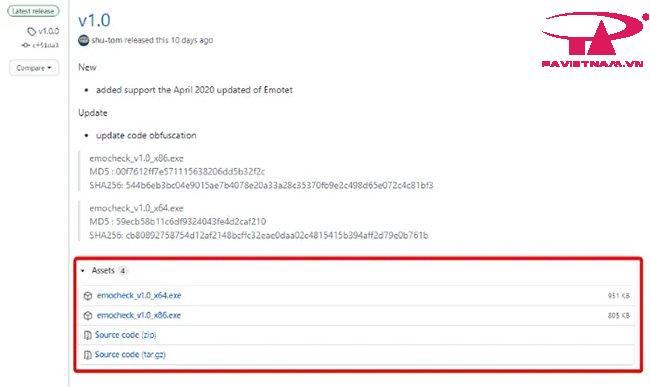 phần mềm EmoCheck kiểm tra Emotet