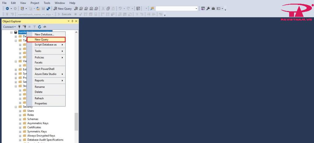 Hướng dẫn import script SQL Server