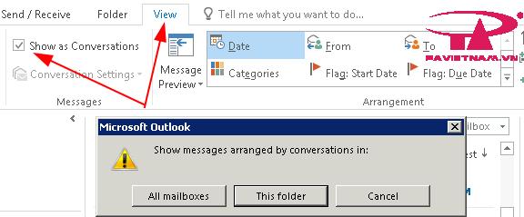 Conversation mail là gì ? Hướng dẫn sử dụng conversation mail trên outlook