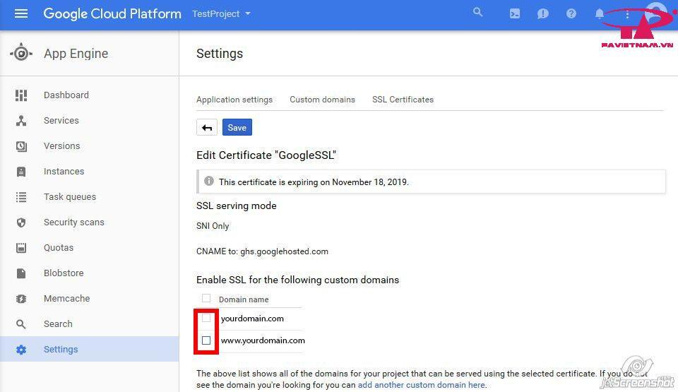 Hướng dẫn cài đặt SSL cho Google Cloud Platform website